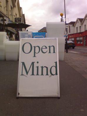 open mind sign