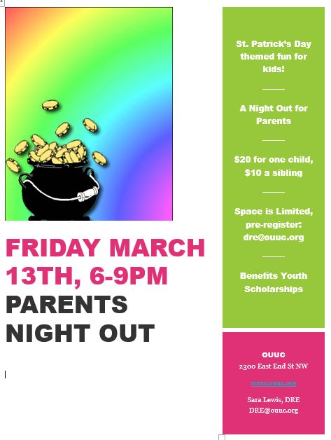 march parents night out