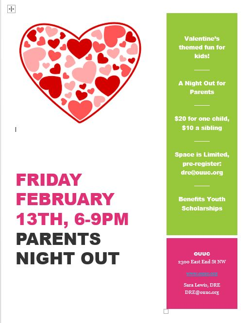 february parents night out